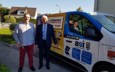 BSI s'affiche sur le véhicule de la mairie de Bretteville-sur-Odon !