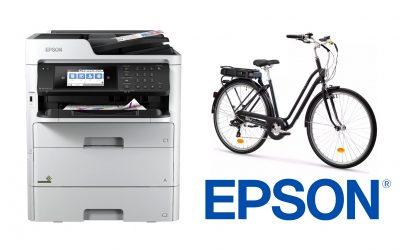 Un multifonction EPSON très économique = 1 Vélo électrique offert !